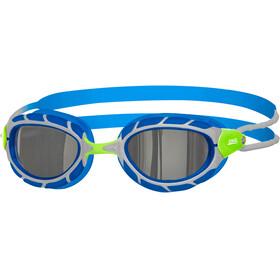 Zoggs Predator Mirror Googles Juniors Green/Blue/Mirror